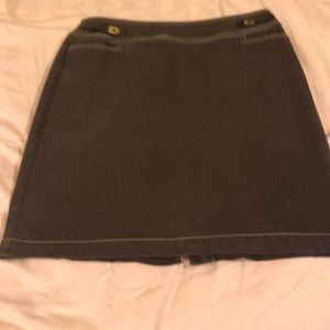 Brown Skirt with split in the back